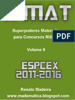 Livro Xmat Vol06 Espcex 2011-2016