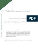 1007.1727v3 Asymtotic formulae for likelihood-based tests of new physics