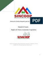 Manual Del Usuario SINCOOP Nuevas Cooperativas