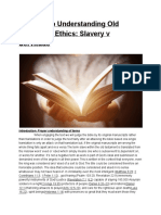 A Guide to Understanding Old Testament Ethics Slavery v Servitude