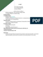 AC3103 Topic Checklist