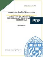 Asuntos en La Reforma Monetaria y Economica de Venezuela