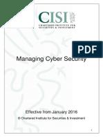 Managing Cyber Security V1(Level-3)