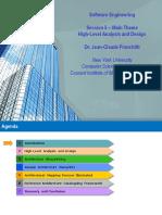 High Level Analysis and Design