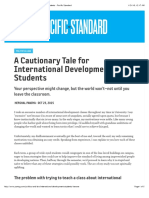 A Cautionary Tale for International Development Students Pacific Standard
