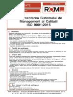 Implementarea Sistemului de Management Al Calitatii ISO 9001