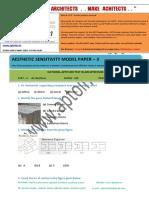 Aptoinn Nata Aesthetic Sensitivity Sample Paper - 3