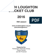 South Loughton CC fixture brochure 2016