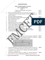 Question Bank With Year -Finite Element Analysis