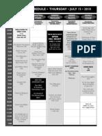 2010 Grey Fox Schedule