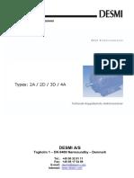 DESMI Operating Instructions DK 2A-2D-3D-4A