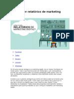 Como Fazer Relatórios de Marketing Digital