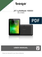 Manual. Tableta Zaapa BOGO LifeStyle 10DCI (BO-LF10DCI)