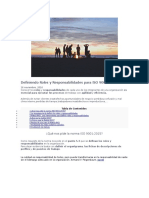 Matriz de Responsabilidades Para ISO 9001 2015