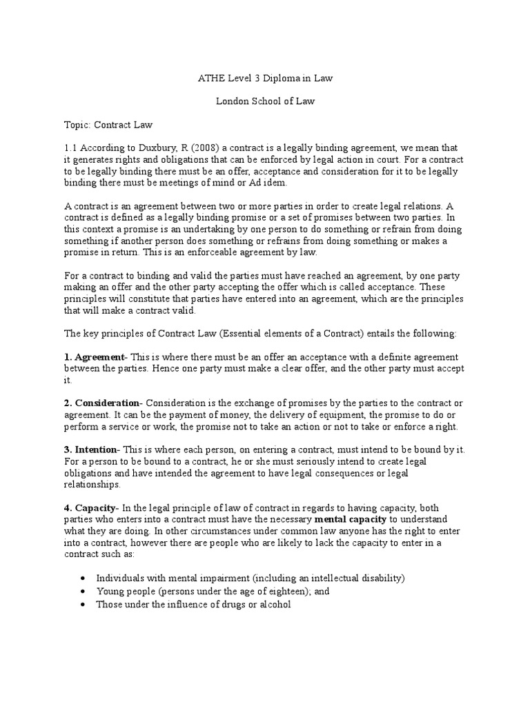 Assignment  Contract Law (1) | Offer And Acceptance | Deed