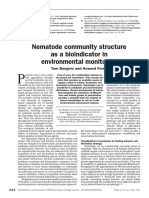 Nematode community structure as a bioindicator in environmental monitoring