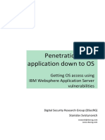 Penetration From Application Down to OS (IBM Websphere)
