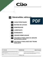 Clio 2 Généralités véhicule - MR358CLIO0