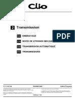 Clio 2 Transmission - MR358CLIO2