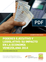 Centro de Divilgación Para El Conocimiento Económico - Poderes Ejcutivo y Legislativo - Su Impacto en La Economía Venezolana en El 2014