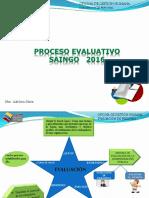 Inducción Proceso de Evaluación - SAINGO