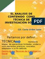Elanalisisdecontenidocomotecnicadeinvestigacin f 101022214059 Phpapp01