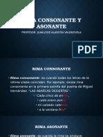 Rima Consonante y Asonante