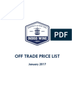Indigo OFF TRADE List January 2017