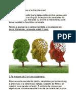 4 Pasi de Prevenire a Bolii Alzheimer!