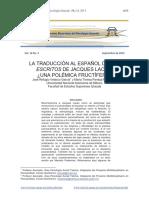 Traducción Al Español de Escritos - Polémica