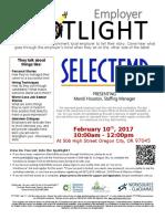 Employer Spotlights February 2017