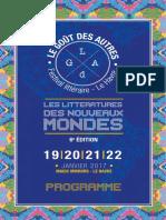 Festival Le Goût Des Autres 2017 - Programme
