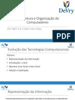 Arquitetura e Organização de Computadores - 05