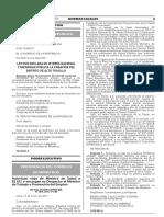 Ley que declara de interés nacional y necesidad pública la creación del distrito de Alto Trujillo