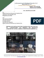 Informe de Estudio Metalurgicos de Aguila American Resources
