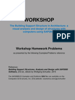 Workshop Homework Problems Based on SAP2000 by Wolfgang Schueller