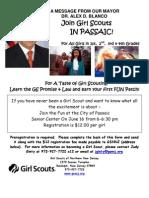 Passaic - Girl Scout Flyer Mayor