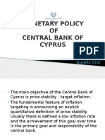 MP - Monetary Policty - Cyprus - Iliescu Mihai, Bustiuc Vlad & Aurelio Ciro