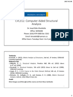 CVL312 Lecture 1