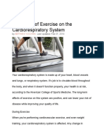 The Effect of Exercise on the Cardiorespiratory System