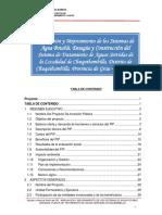 Perfil Agua Potable y Alcantarillado Chuquibambilla