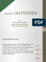 Sbb Kolom Pendek
