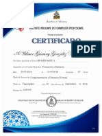 Certificado de Infop 2