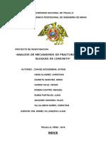 Analisis de Mecanismos de Fracturamiento en Bloques de Concreto