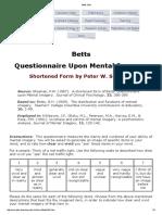 Cuestionario de Imagineria Betts Qmi