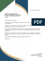 Carta de Presentación Para UCV