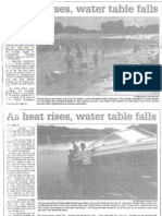 As Heat Rises, Water Table Falls July 7, 2002