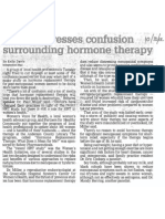 Panel Addresses Confusion Surrounding Hormone Therapy, Oct. 30, 2002