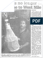State is No Longer Immune to West Nile July 14 2002