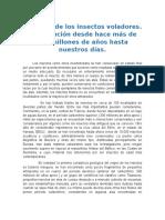 HISTORIA DE LOS INSECTOS VOLADORES